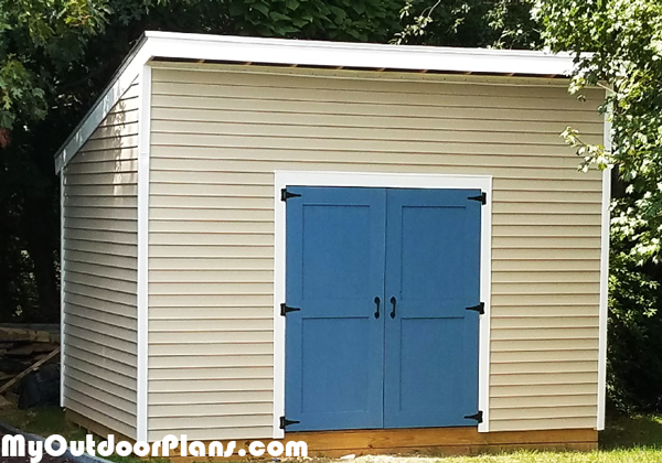 DIY 10x14 Lean to Shed