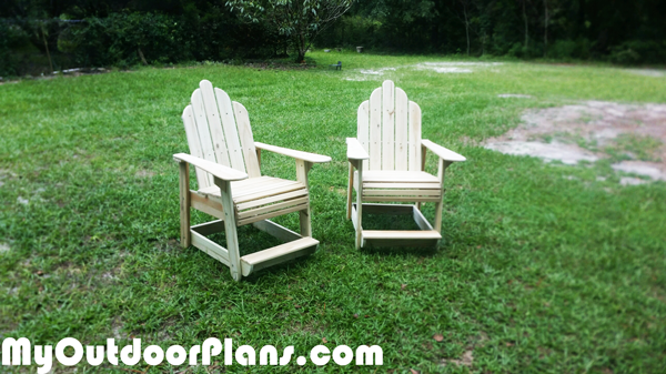 DIY Table High Adirondack Chairs