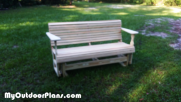 DIY Wooden Glider Bench
