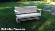 DIY Wooden Glider Bench