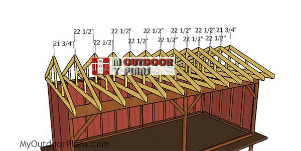 Fitting-the-trusses---10x24-shed
