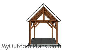 10x14 Pavilion Plans - Front view