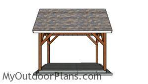 10x14 Pavilion Plans - Side view