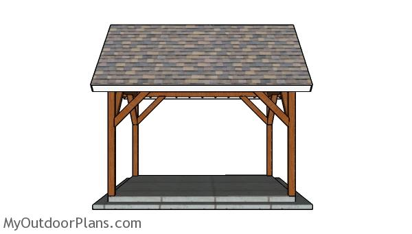 10x14 Pavilion Plans - Side view