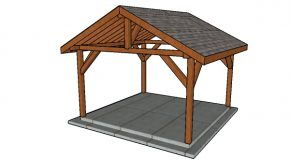 14×14 Outdoor Pavilion Plans
