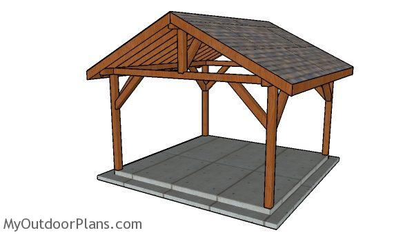 14x14 Outdoor Pavilion Plans Myoutdoorplans Free