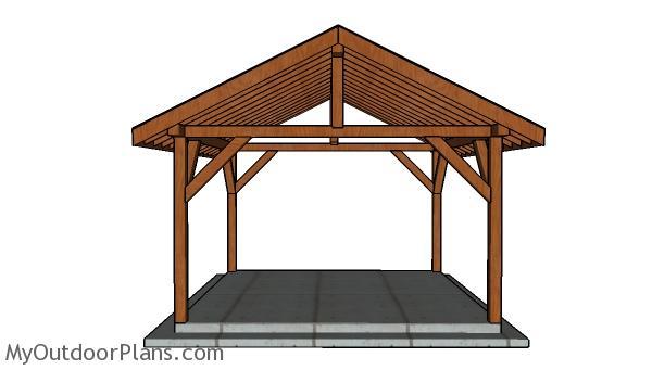 14x14 Pavilion Plans - Front view