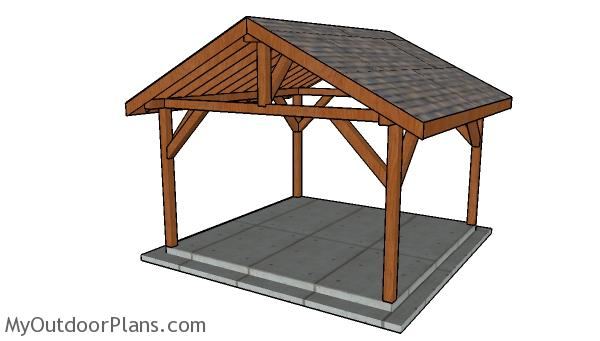 14x14 Outdoor Pavilion Plans