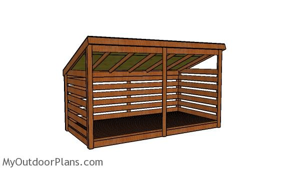 3 Cord Firewood Shed Plans