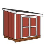 8×10 Lean to Shed Plans