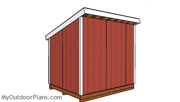 8x10 lean to shed plans - back view