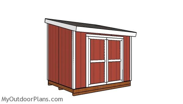 8x10 lean to shed plans