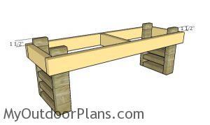 Assembling the bench