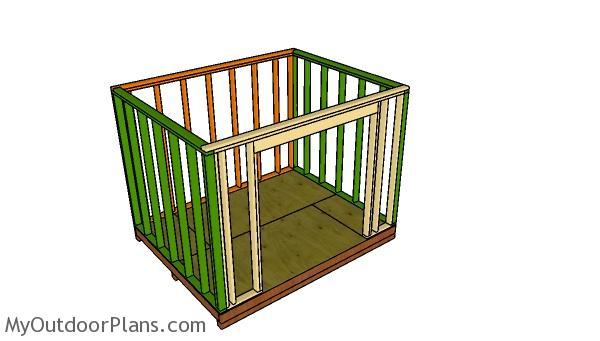 Assembling the wall frame
