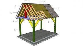 10×14 Pavilion Roof Plans