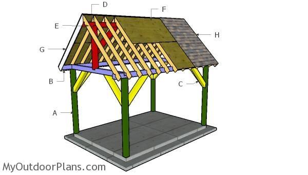 10x14 Pavilion Roof Plans