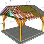 14×14 Pavilion Roof Plans