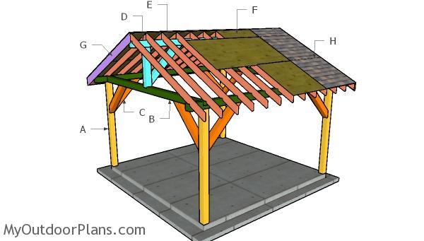 14x14 Pavilion Roof Plans