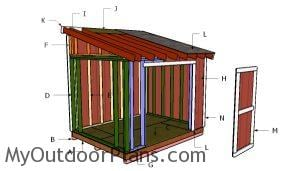 Building a 8x10 lean to shed