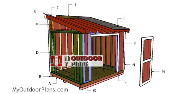 Building-a-8x10-lean-to-shed