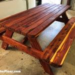 DIY 6 ft Cedar Picnic Table