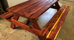 DIY 6 ft Cedar Picnic Table