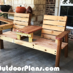 DIY Cedar Double Chair