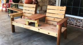 DIY Cedar Double Chair