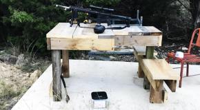 DIY Large Shooting Bench