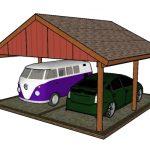 2 Car Gable Carport Plans