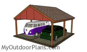 Double Gable Carport Plans