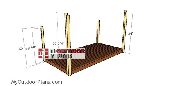 Fitting-the-posts---3-cord-woodshed