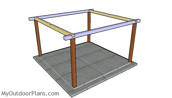 Fitting the top rails