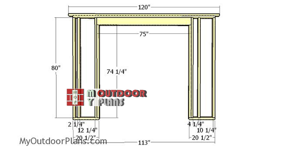 Front-wall-frame---8x10-lean-to-shed