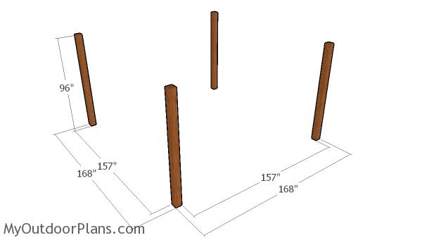Laying out the posts
