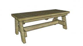 Simple Garden Bench Plans