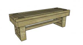 Slatted Garden Bench Plans