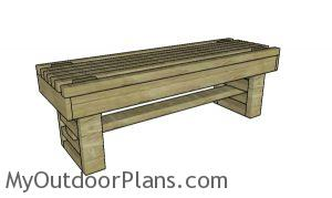 Slatted bench plans