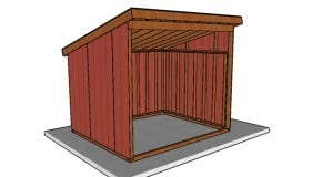 10×12 Run In Horse Shelter Plans