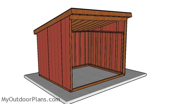 10x12 Run In Horse Shelter Plans