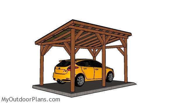 10x16 Carport plans