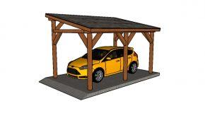 10×16 Lean to Single Carport Plans