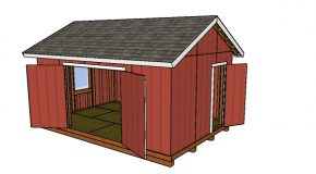 12×18 Gable Shed Plans