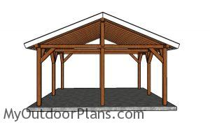 18x18 picnic shelter plans