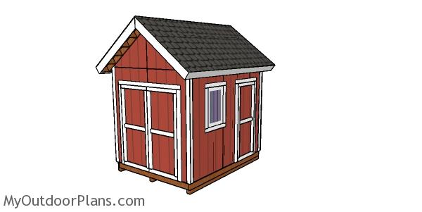 8x10 Heavy duty Shed Plans