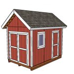 8×12 Heavy Duty Shed Plans