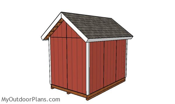 8x12 Heavy duty Shed Plans - back view