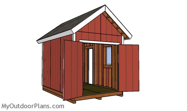 8x12 Shed with 2x6 studs Plans