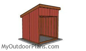 8x8 run in shed plans