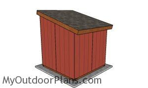 8x8 run in shed plans - back view